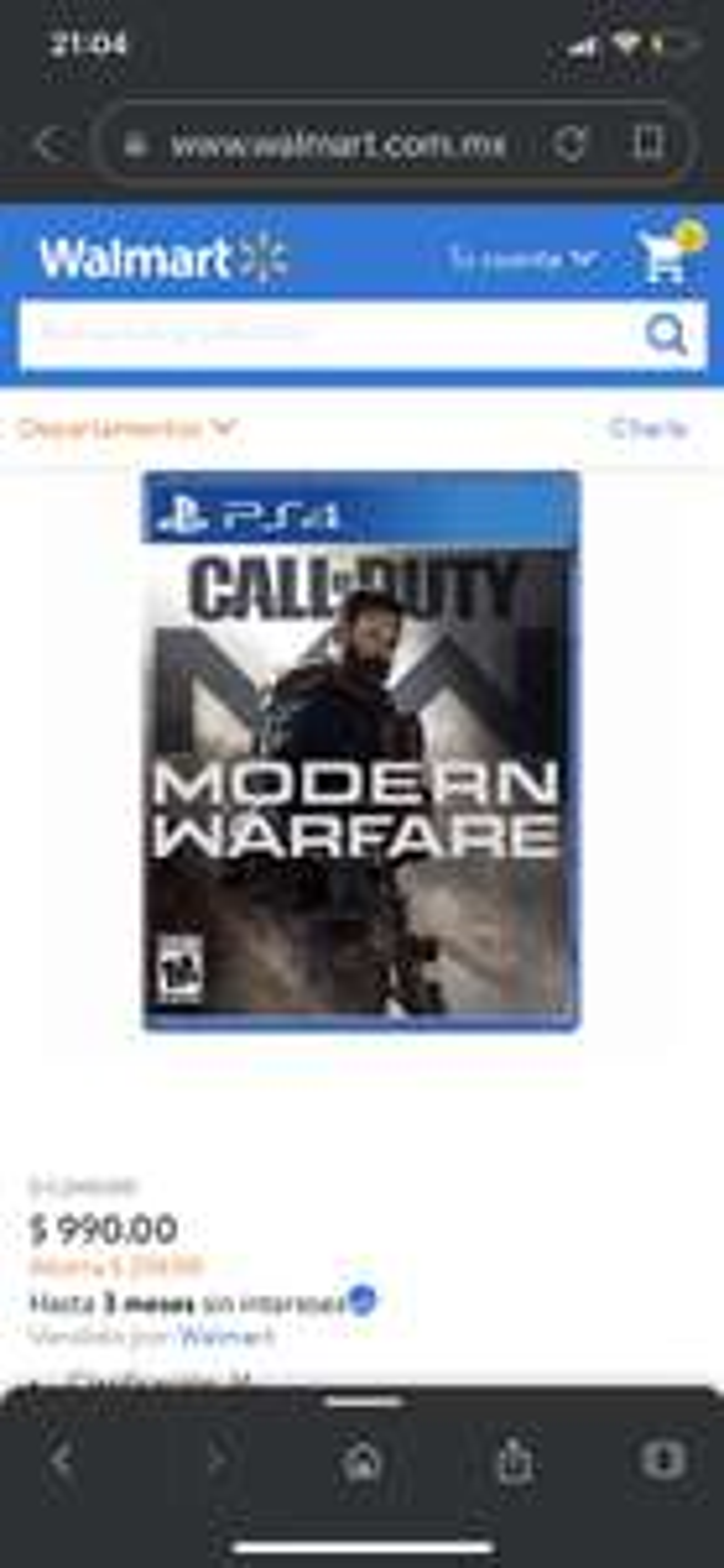 Walmart: COD Modern Warfare