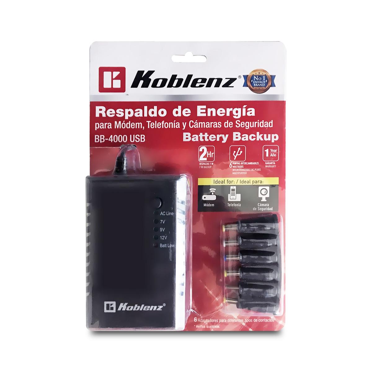 radioshack: NO BREAK KOBLENZ BB-4000 USB hasta 2 horas ROUTER