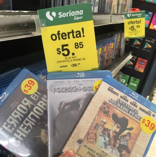 Soriana: variedad de películas Blu-Ray originales a $5.85