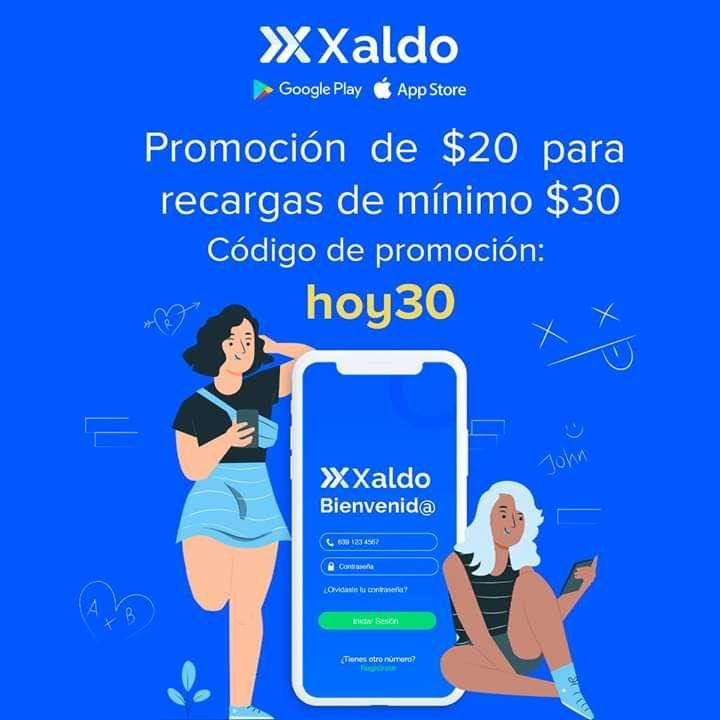 Xaldo: recarga $30 paga $10