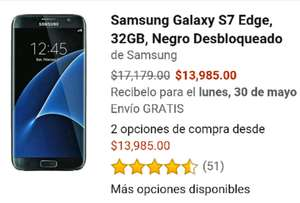 Amazon: Samsung Galaxy S7 Edge de 32GB a $13,985