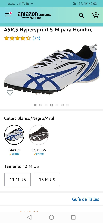 Amazon: Varios modelos de tennis asics para correr (pista y no pista)