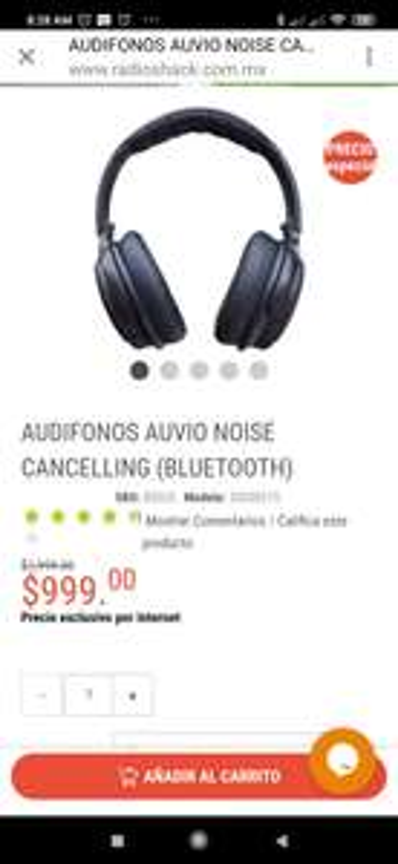 Radioshack: AUDÍFONOS ON EAR AUVIO ACTIVE NOISE CANCELLING