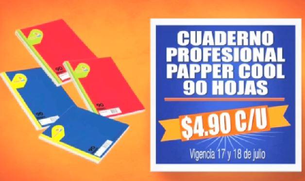 Chedraui: cuaderno profesional a $4.90 y 30% de bonificación en papelería