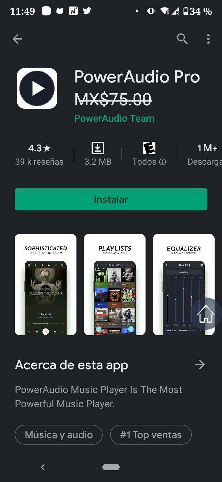 Google Play Power Audio Pro Gratis