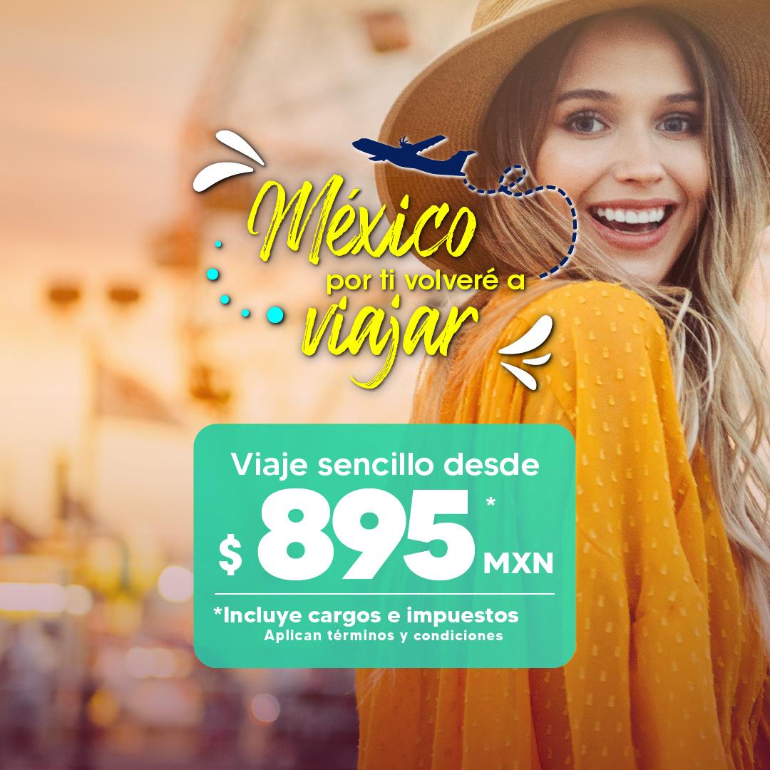 Aeromar: Viaje Sencillo desde $895