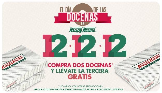 Krispy Kreme: 3x2 en docenas mañana