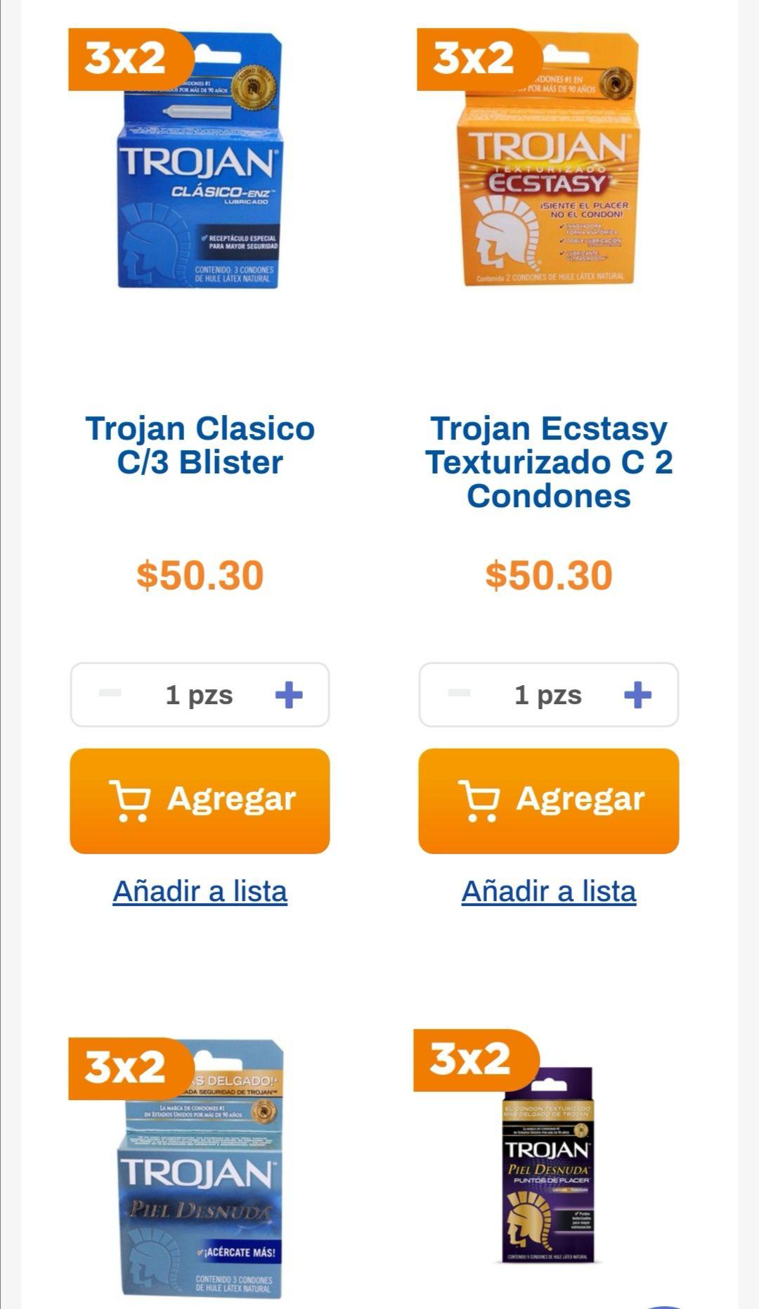 Chedraui: 3 x 2 en preservativos Trojan + 20% de descuento (descuento total: 46.67%)