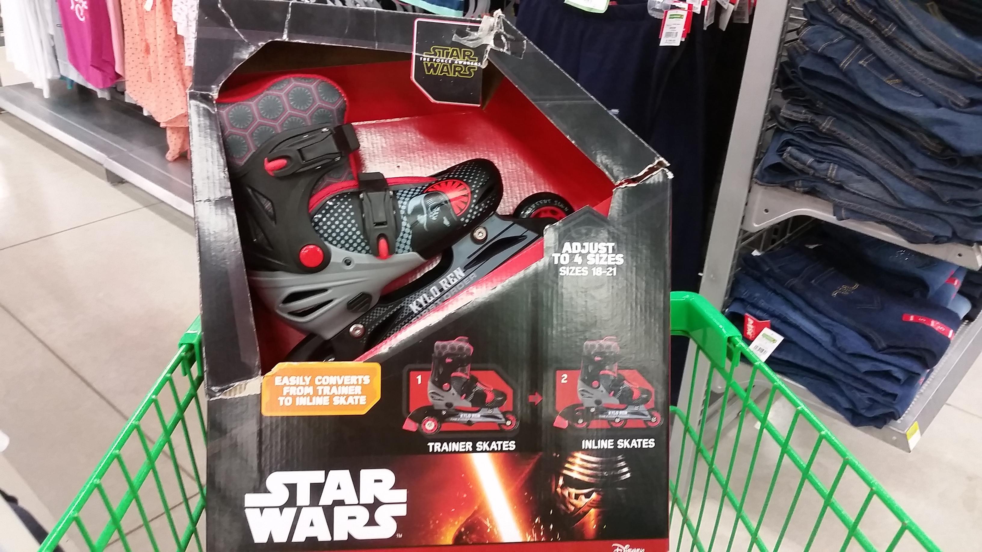 Bodega Aurrerá: Patín convertible Star Wars a $325.03