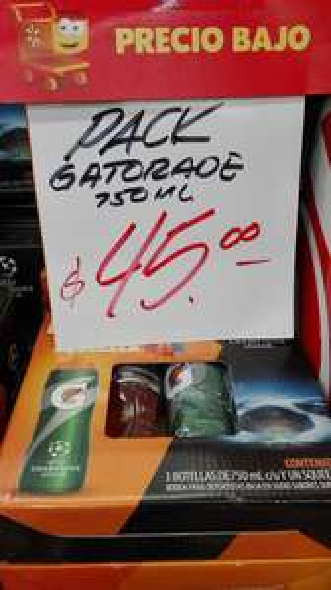 Walmart Monclova: Paquete de Gatorade