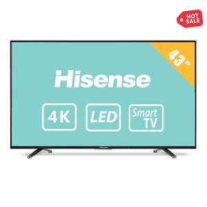 Walmart: TV Hisense 43 Pulgadas 4K Ultra HD Smart TV LED a $7,999