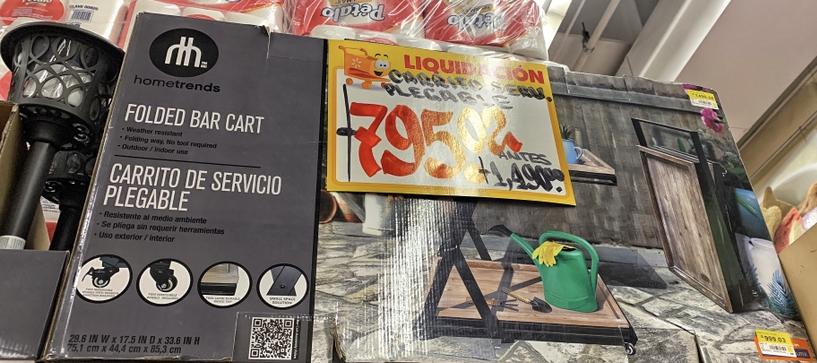 Walmart: Carrito de Servicio Plegable Marca hometrends