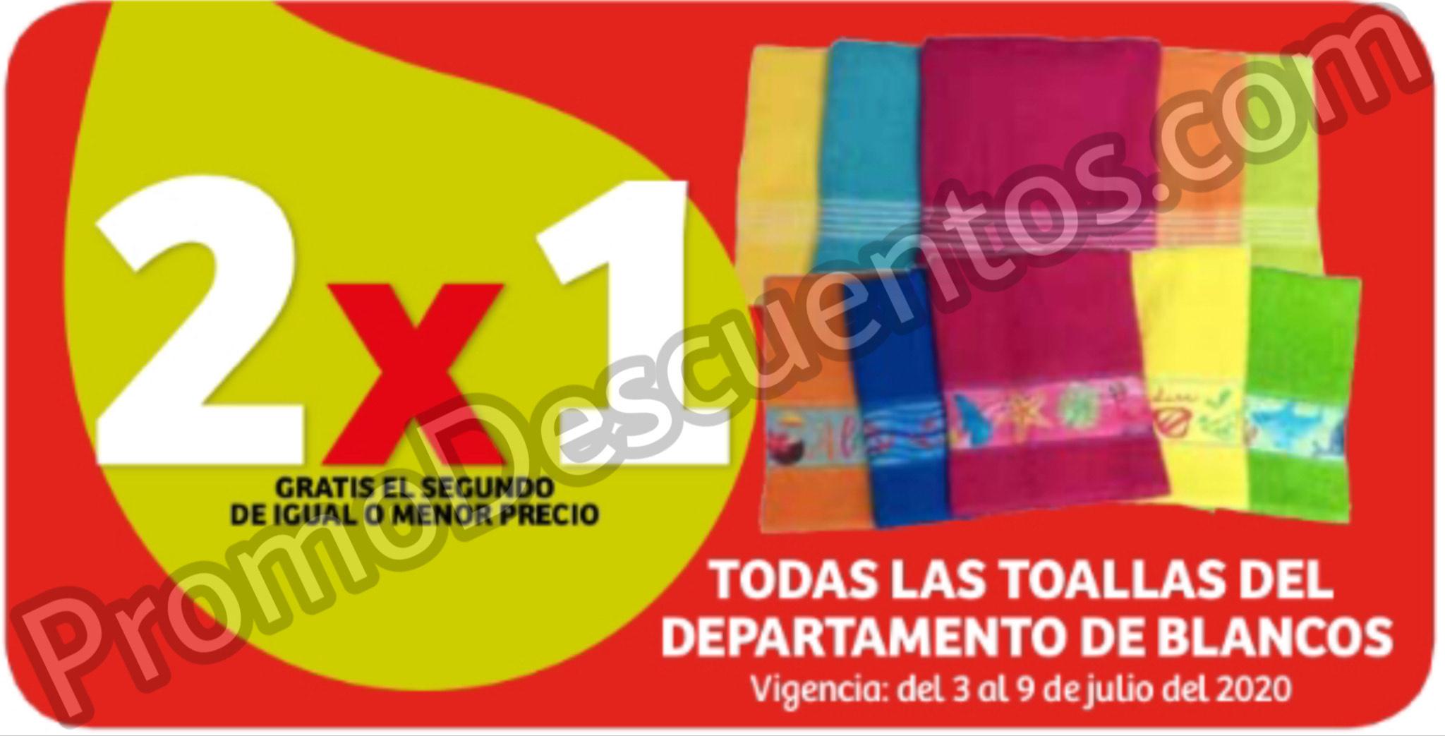 Julio Regalado 2020 en Soriana: 2x1 en Toallas del depto de Blancos