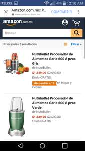 Hot Sale en Amazon: Nutribullet 8 piezas Magic bullet a $1,349