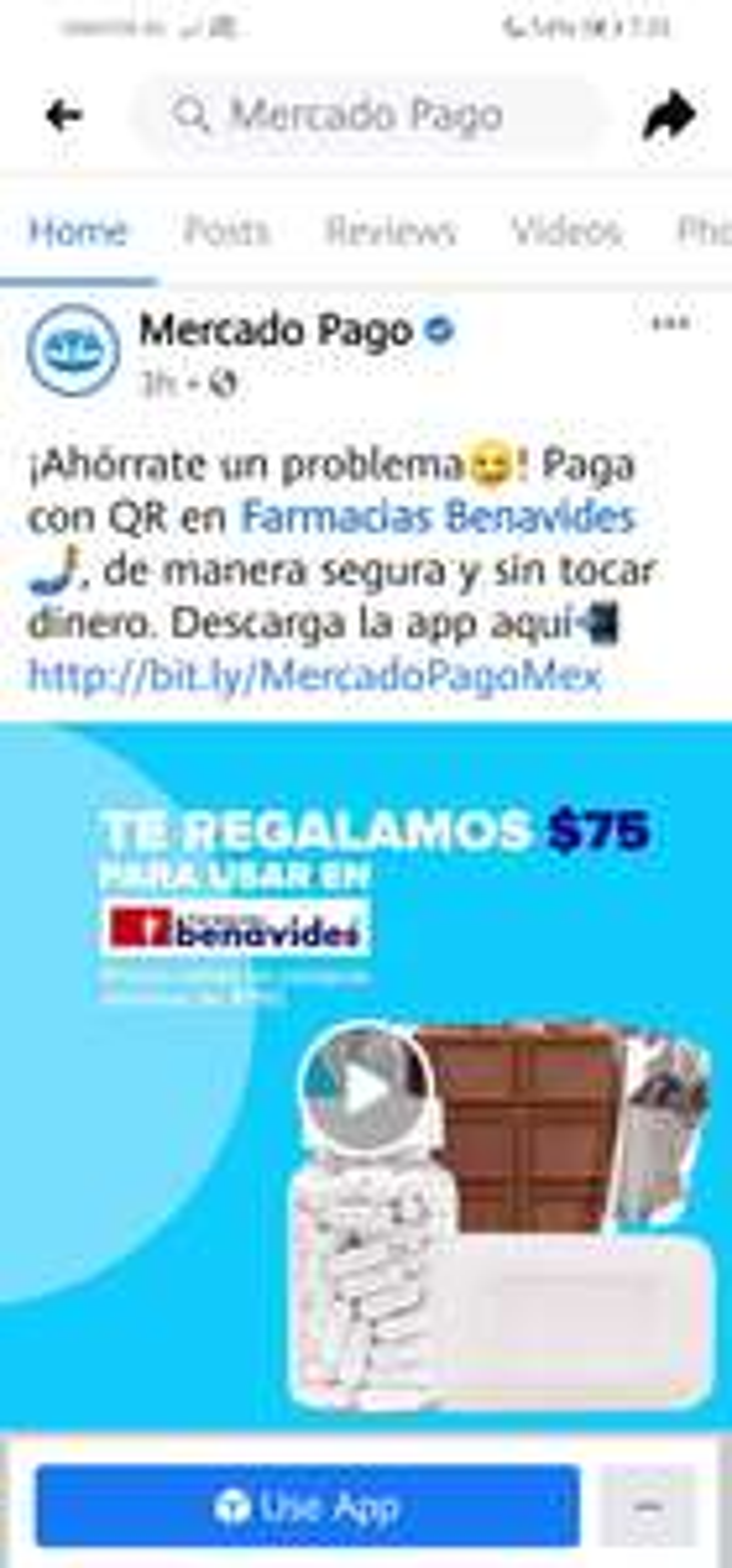 Descuento de $75 en Farmacias Benavides Pagando con Mercado Pago (3er Mes)