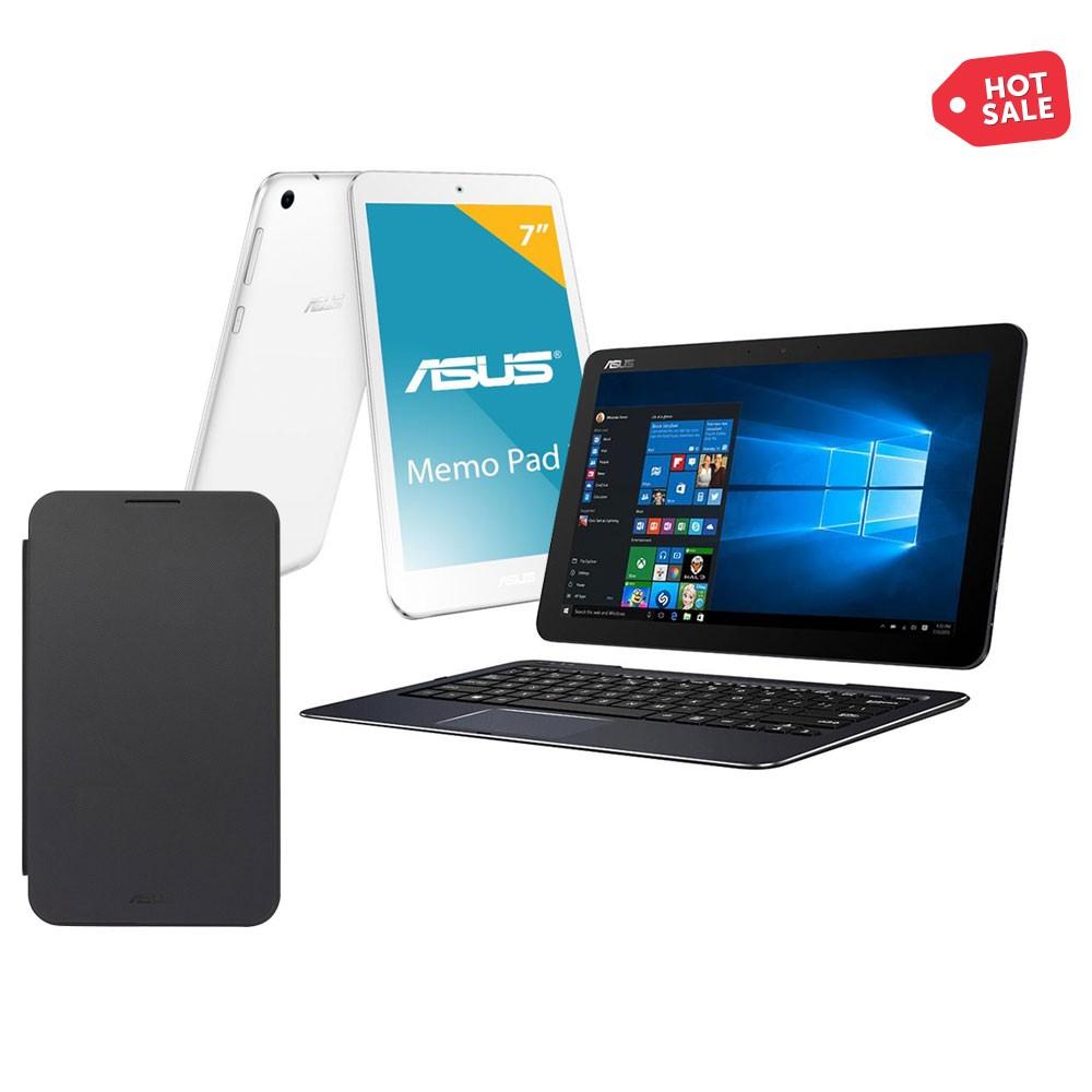 Hot Sale Walmart: Laptop 2 en 1 Asus T300CHI 4 GB RAM 128 GB SSD más Tablet y Funda Asus