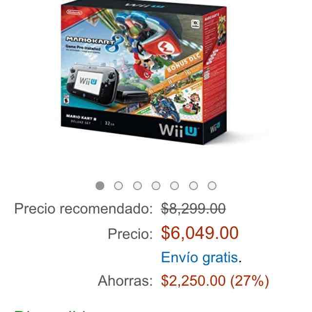 Promoción del Hot Sale Amazon: Wii U con Mario Kart 8 $6,049 o $5,041 con Banamex