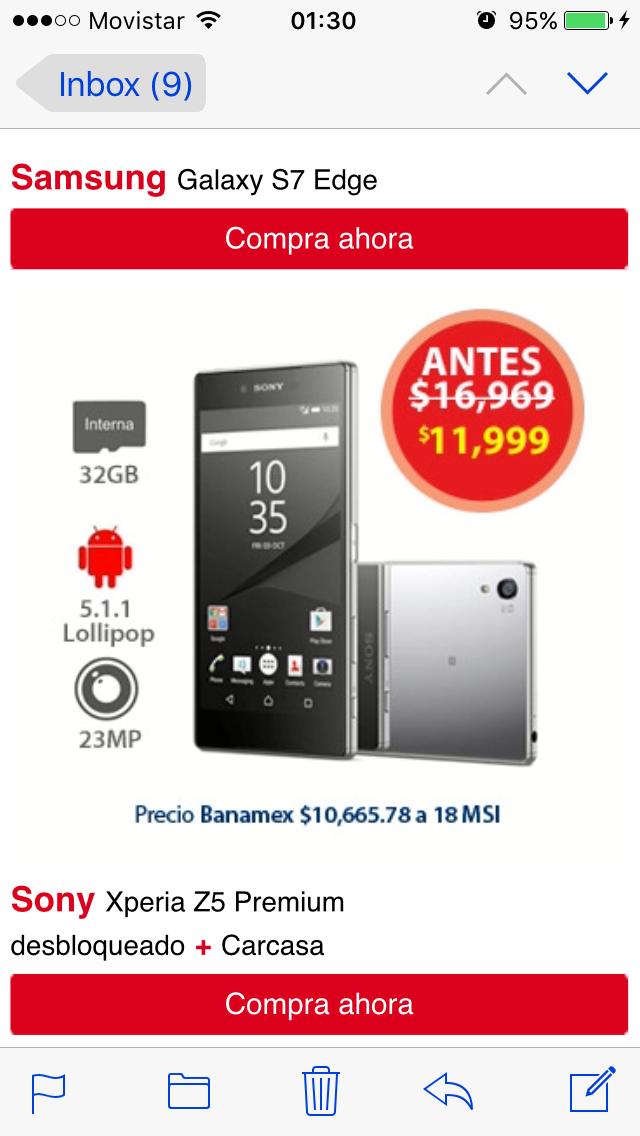Promoción del Hot Sale en Walmart: Sony XPeria Z5 Premium