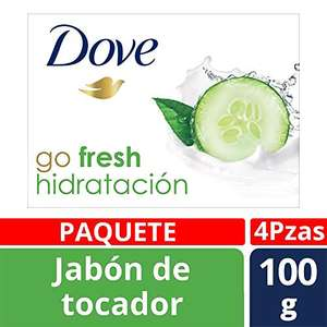 Amazon: Dove Go Fresh Paquete con 4 Barras de Jabón