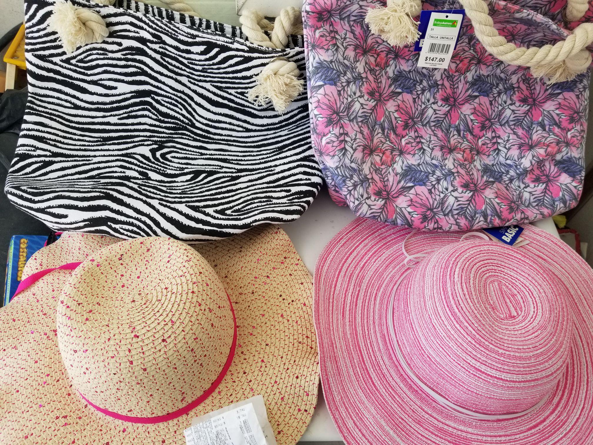 Bodega Aurrerá Bolsa y sombrero de playa