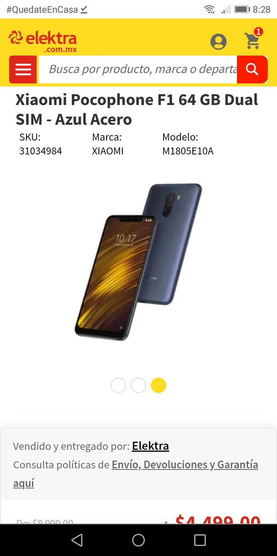 Elektra: Xiaomi Pocophone F1 64 GB Dual SIM - Azul Acero