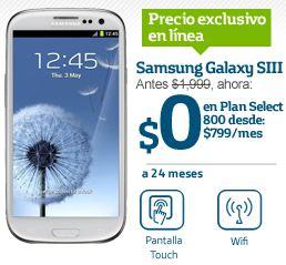 Movistar: Samsung Galaxy SIII gratis en Plan Select 800, Lumia 800 en Select 400 y más
