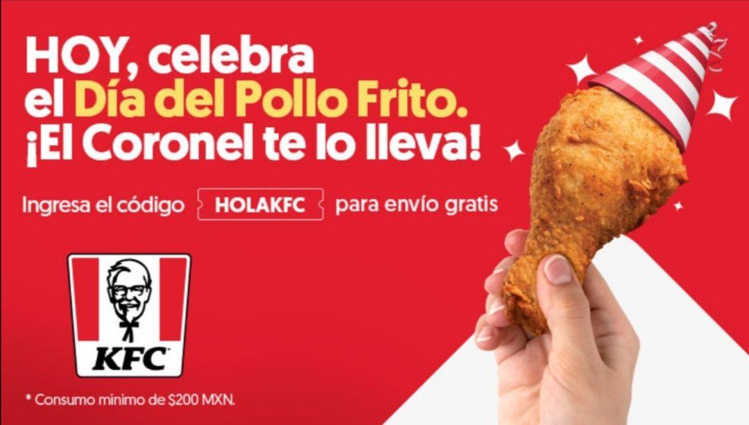 DiDi Food: Cupón de $50 para envíos en KFC
