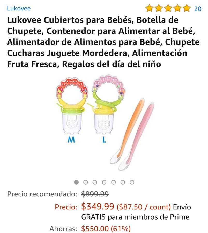 Amazon: Cubiertos para bebe