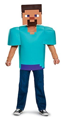 Amazon: Disguise Steve Classic Minecraft Costume, Multicolor, Medium (7-8)