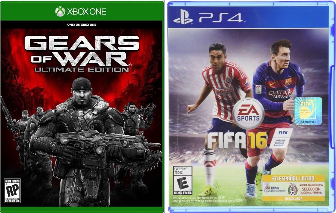 Ofertas Hot Sale Amazon: FIFA 16 PS4 $349, Xbox 360 $299 y GOW Ultimate Xbox One $429
