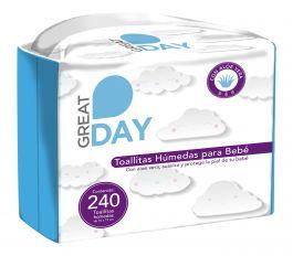 HEB: Great Day Toallitas Humedas para Bebe 3 Pack 240 pz