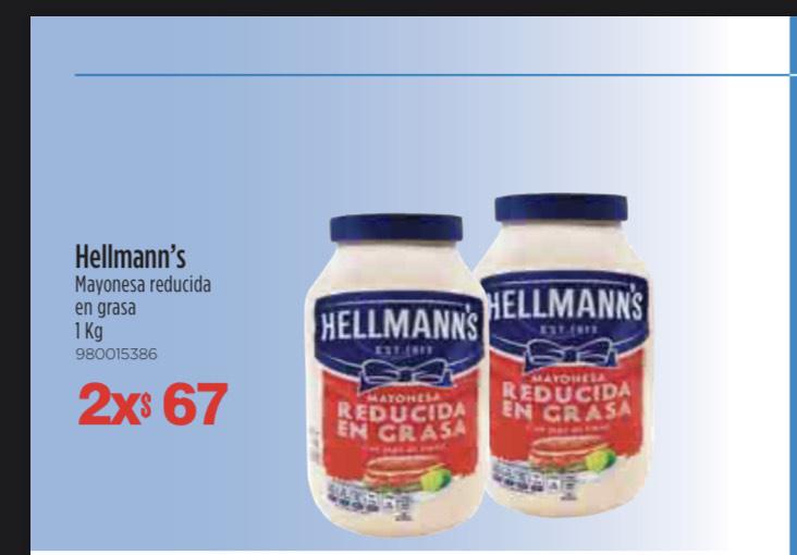 Sam's: 2 Mayonesas Hellmanns 1k cada una