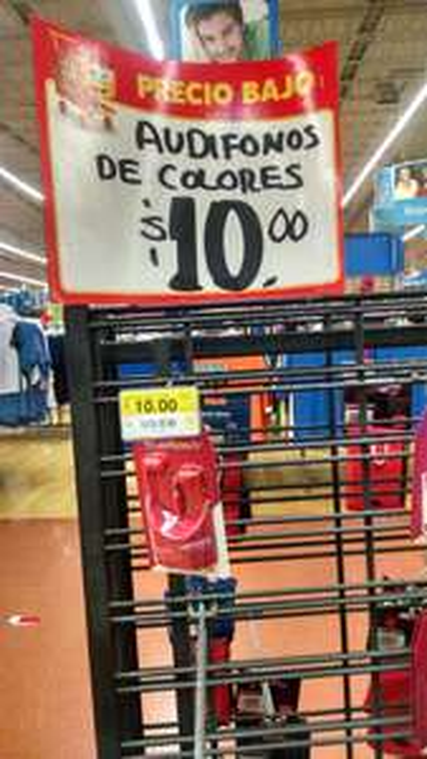 Walmart: Audífonos de Colores True Basix a $10