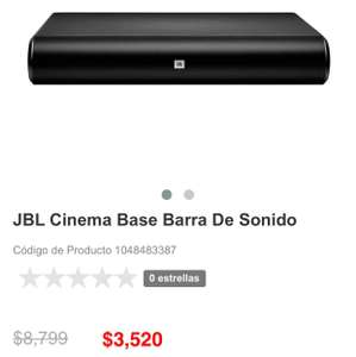 Ofertas Hot Sale Liverpool en línea: JBL Barra de sonido
