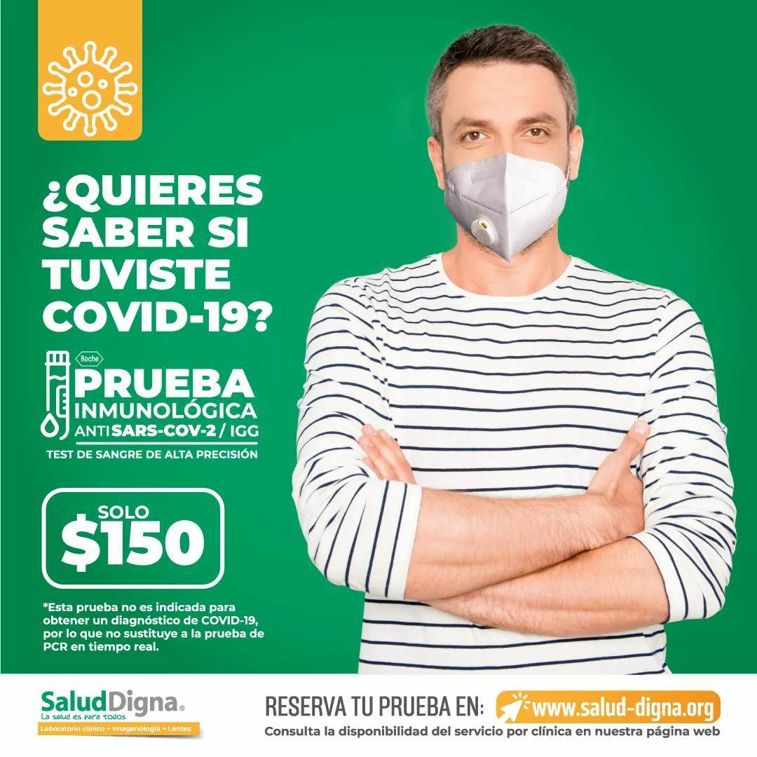Salud Digna: Prueba Serológica Inmunológica para Covid-19