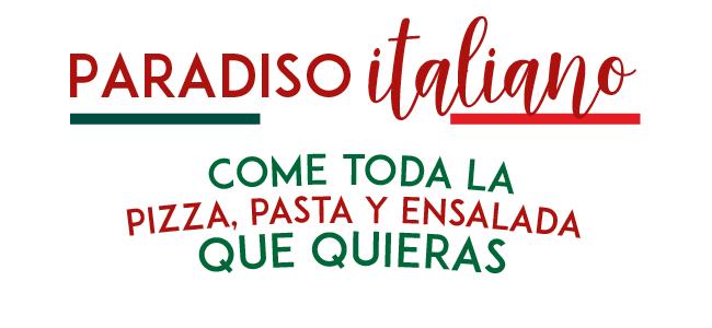 Italiannis: Come toda la Pizza, pastas y ensaladas que quieras por $199