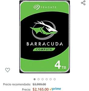 "Amazon: Disco Duro Seagate HDD 4TB SATA III 3.5"" 5400 rpm"