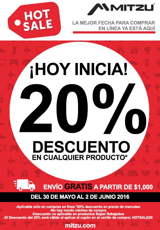Ofertas Hot Sale Tienda Mitzu: 20% en cualquier producto+10% extra con Mercadopago
