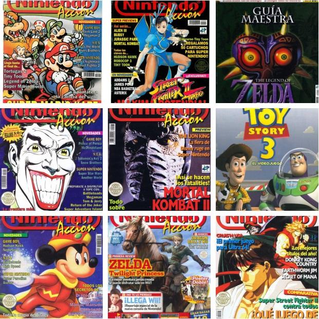 Recopilación de Revistas Nintendo Acción