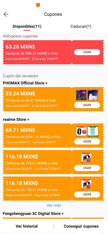 Aliexpress: Cupon de $63 en compras de $506