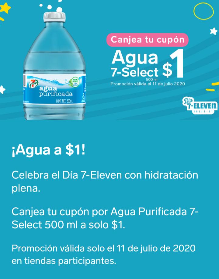 7 eleven: Agua a 1 peso