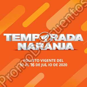 Temporada Naranja 2020 en La Comer: 5to Folleto de Ofertas