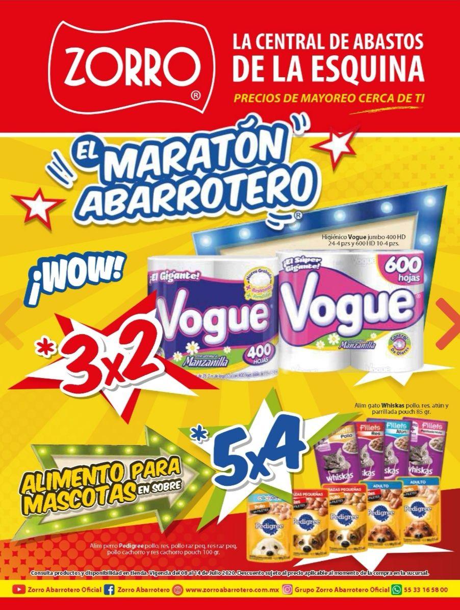 """Zorro: 5° Folleto de Ofertas Semanal """"El Maratón Abarrotero"""" al Martes 14 de Julio"""