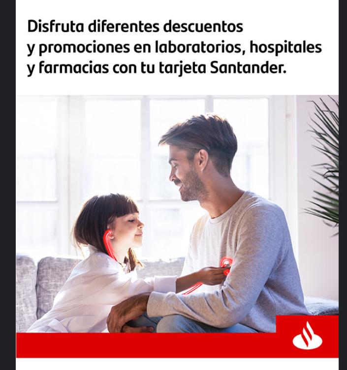 Santander descuentos en Salud
