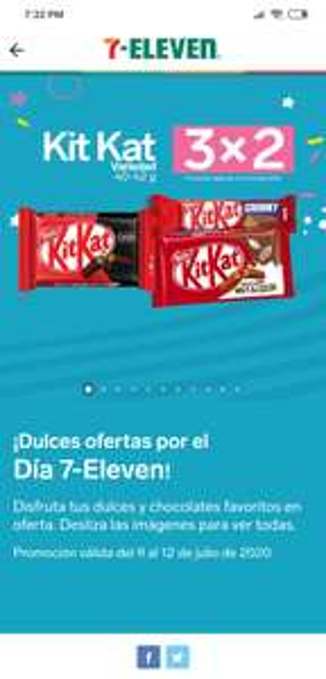 7 Eleven: 4 x 2 y 3 x 2 en varios dulces