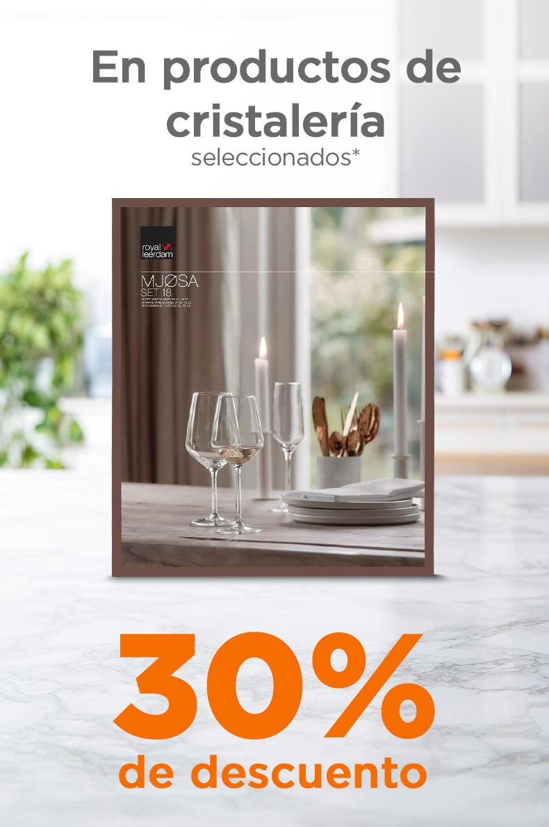 Chedraui: 30% de descuento en toda la cristalería (excepto línea económica)