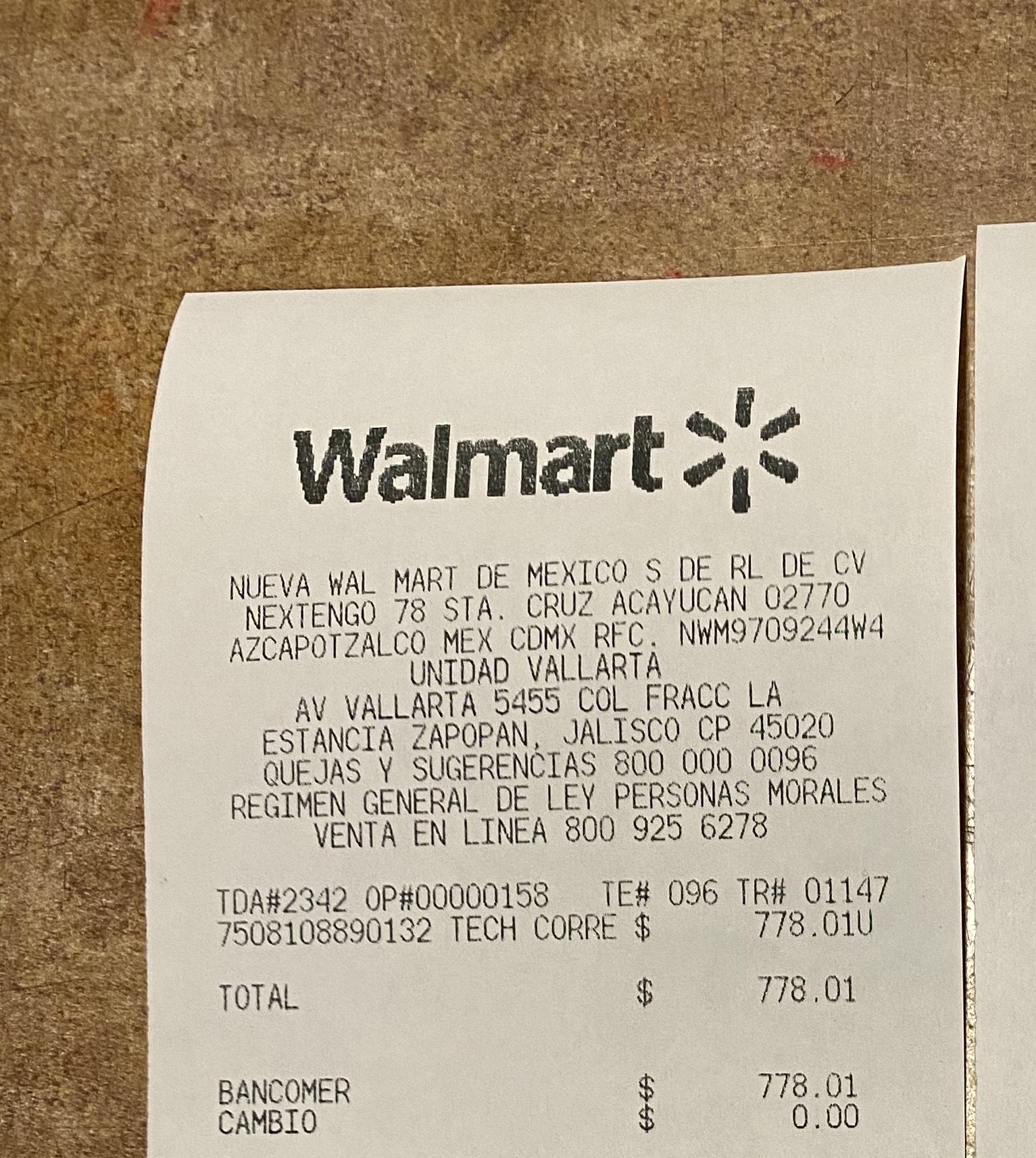 Walmart galerías Gdl Toldo