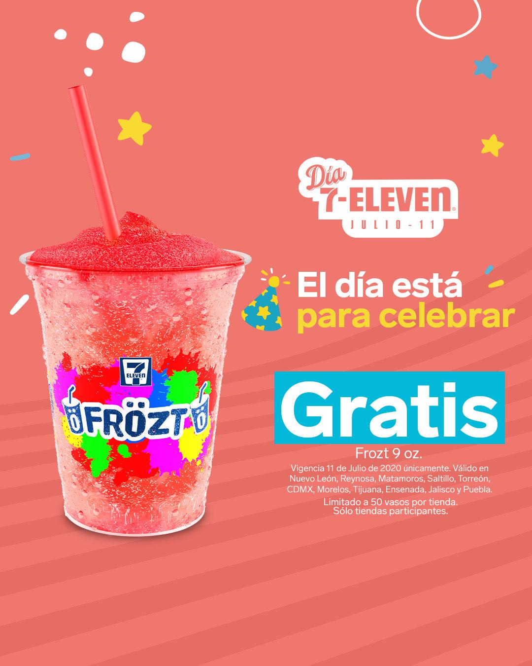 7 Eleven: Frost 9oz GRATIS (estados y sucursales participantes)