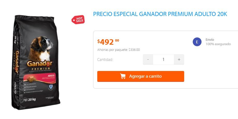 Ofertas Hot Sale Walmart: Alimento Ganador Premium 20 Kg. Adultos & Cachorros
