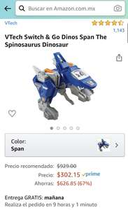 Amazon: Espinosaurio avion para niños